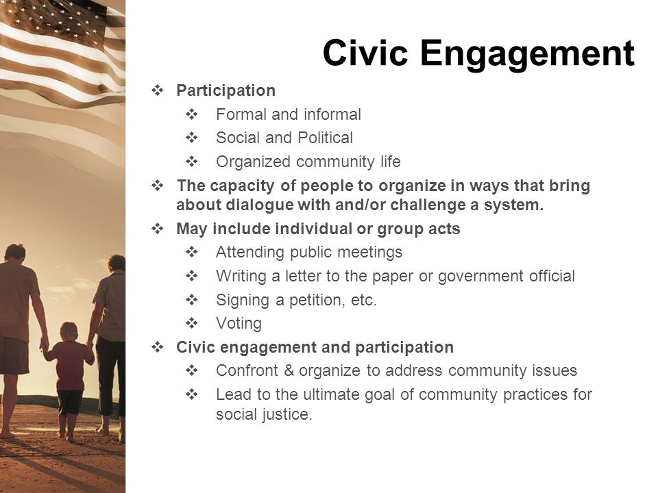 Civic Engagement Participation Formal and informal