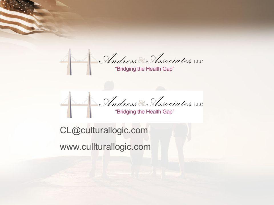 CL@culturallogic.com www.cullturallogic.com