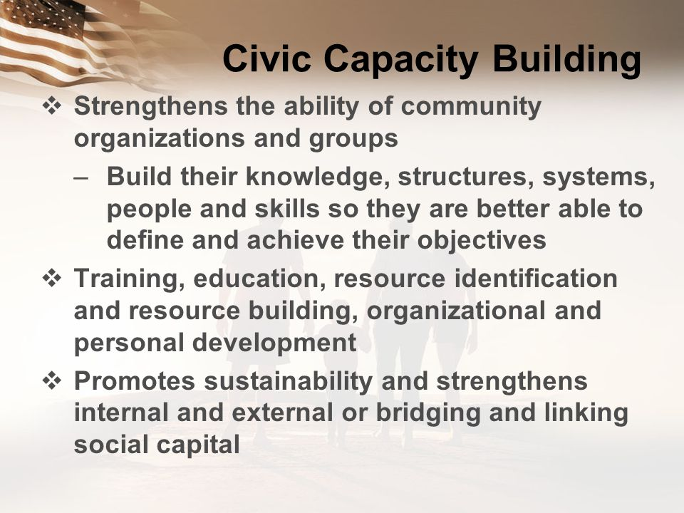 Civic Capacity Building