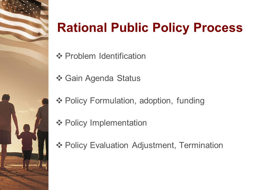 Rational Public Policy Process