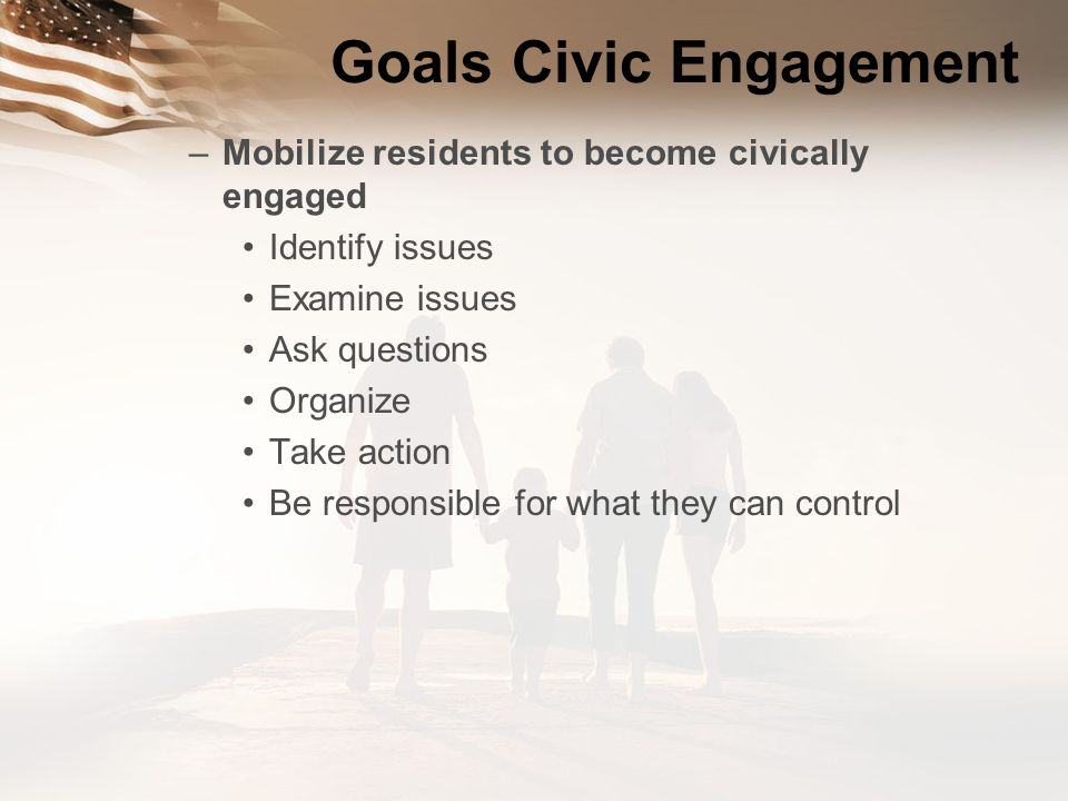 Goals Civic Engagement