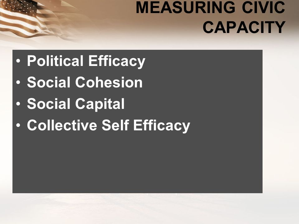 MEASURING CIVIC CAPACITY