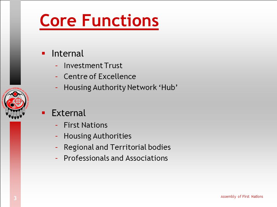 Core Functions Internal External Investment Trust Centre of Excellence