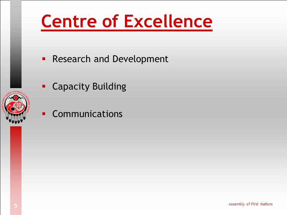 Centre of Excellence Research and Development Capacity Building