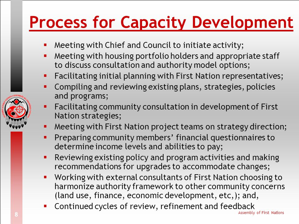Process for Capacity Development