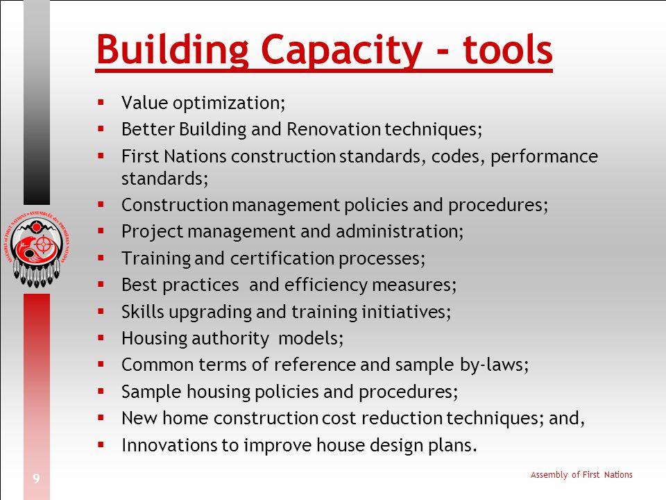 Building Capacity - tools