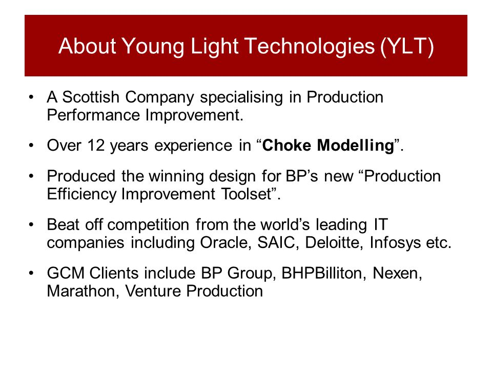 About Young Light Technologies (YLT)
