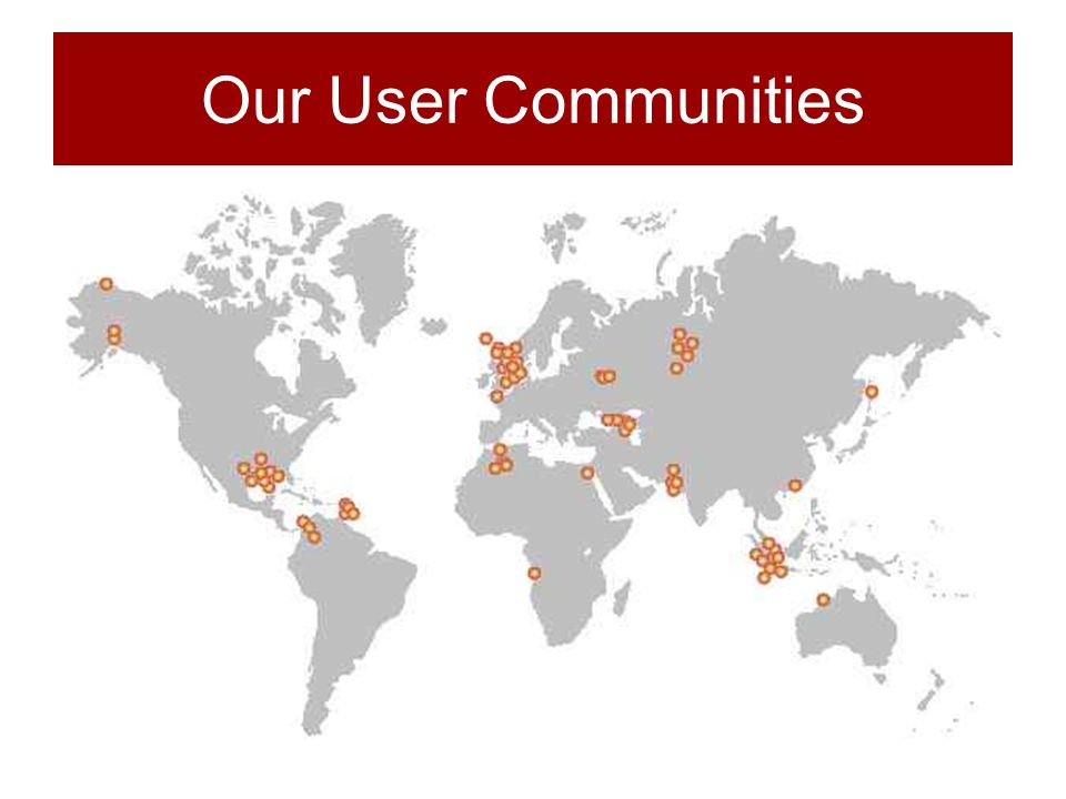 Our User Communities