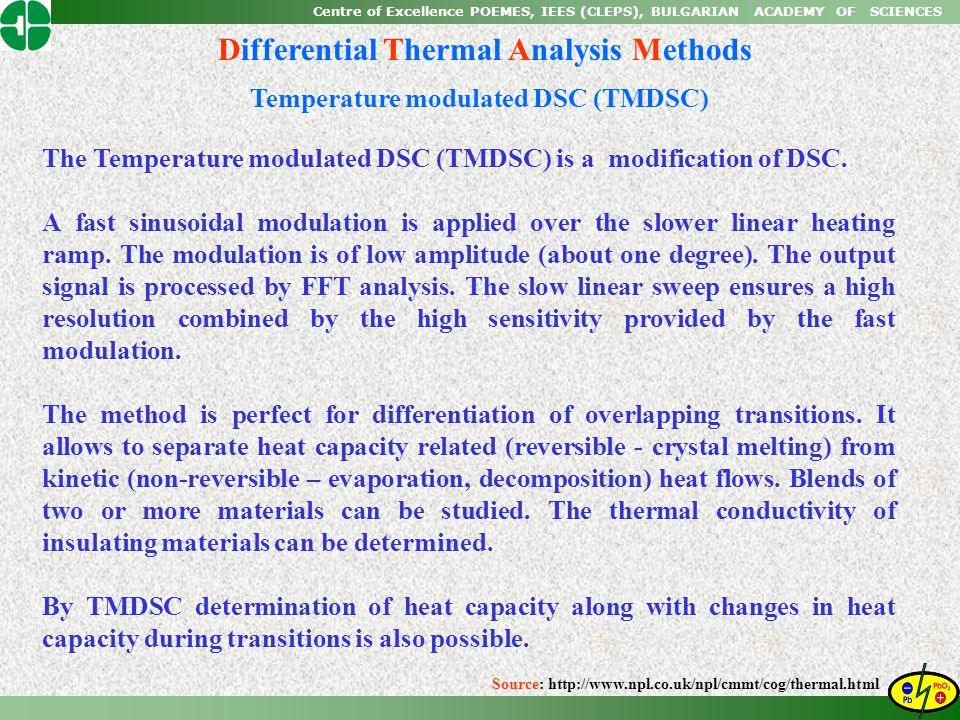 Differential Thermal Analysis Methods