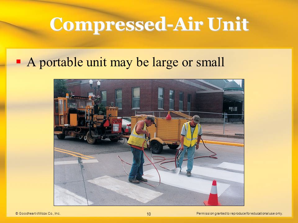 Compressed-Air Unit A portable unit may be large or small