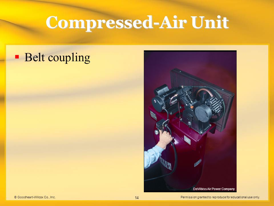 Compressed-Air Unit Belt coupling DeVilbiss Air Power Company
