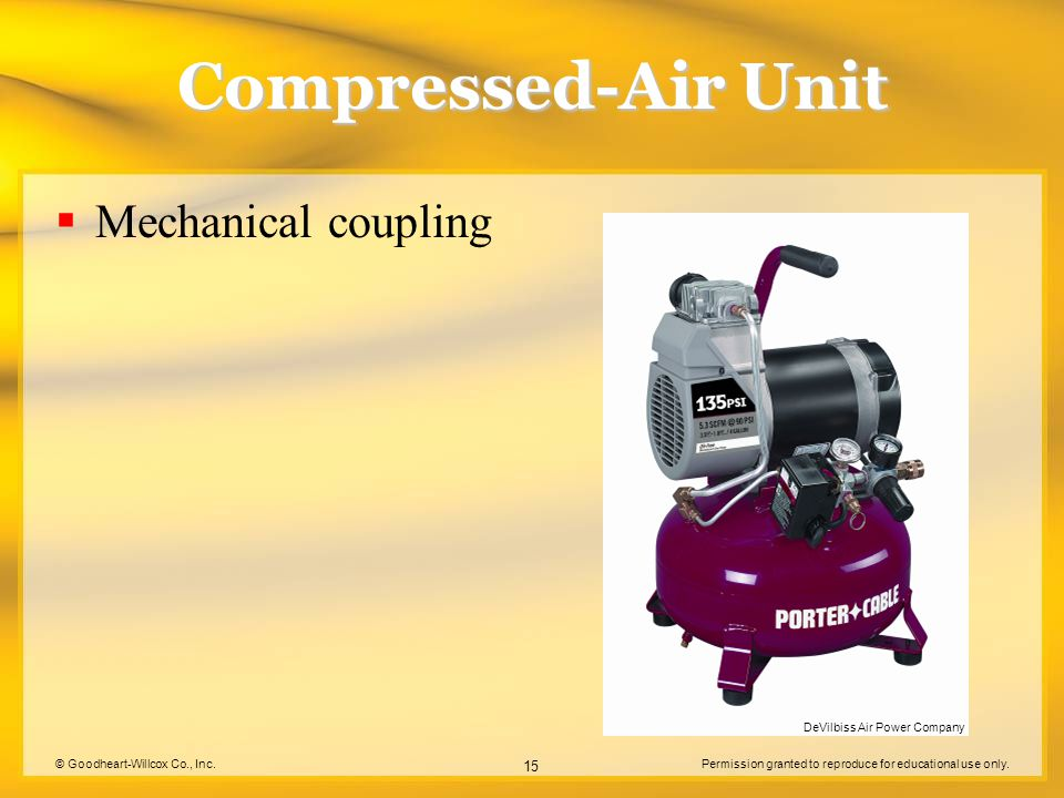 Compressed-Air Unit Mechanical coupling DeVilbiss Air Power Company