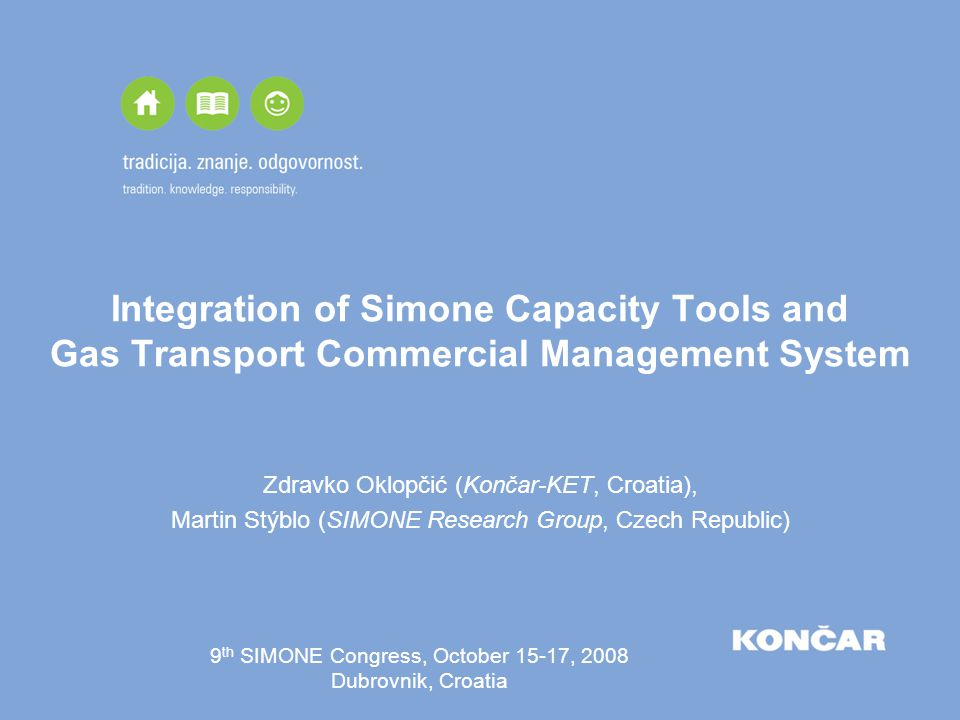 Integration of Simone Capacity Tools and Gas Transport Commercial Management System