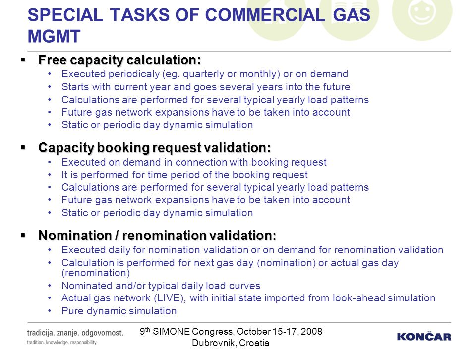 SPECIAL TASKS OF COMMERCIAL GAS MGMT