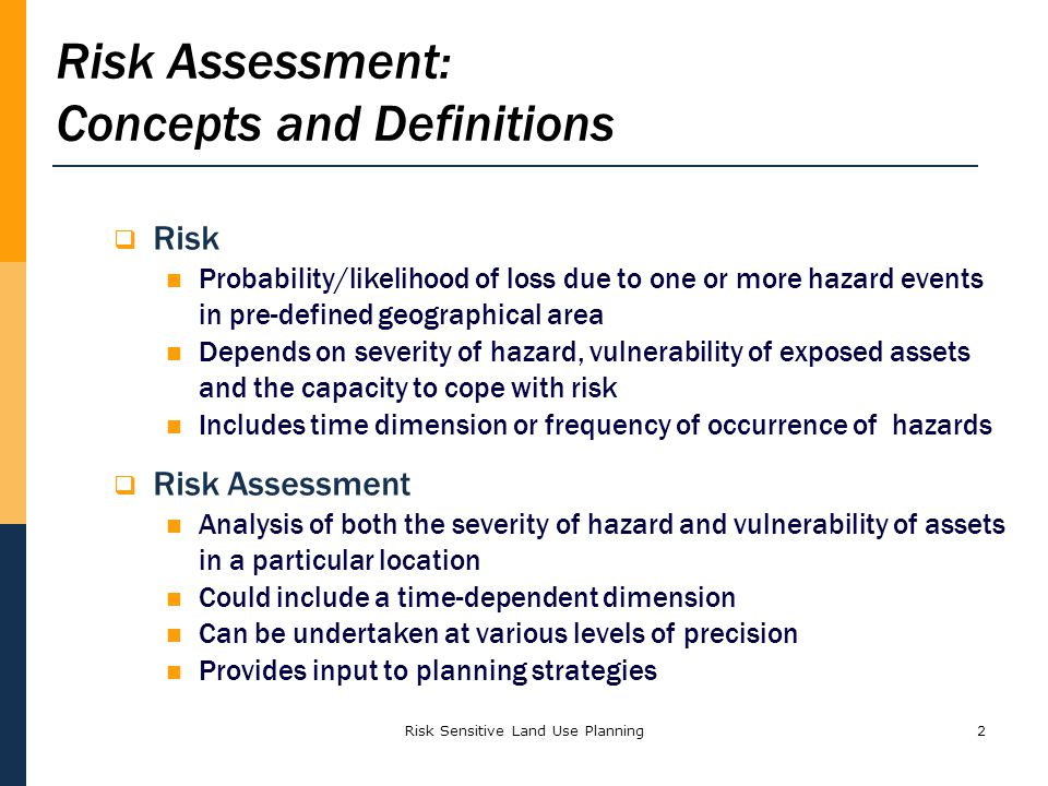 Risk Assessment: Concepts and Definitions