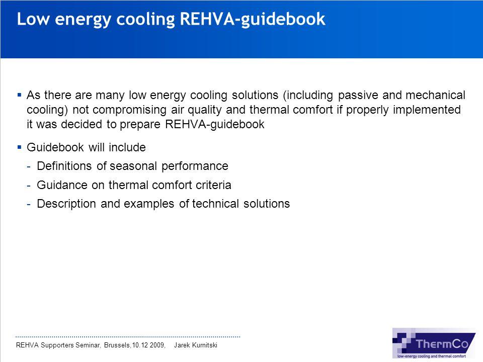 Low energy cooling REHVA-guidebook