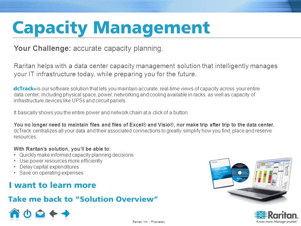 Your Challenge: accurate capacity planning.