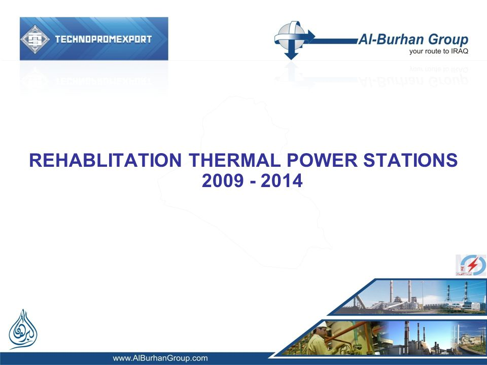 REHABLITATION THERMAL POWER STATIONS 2009 - 2014