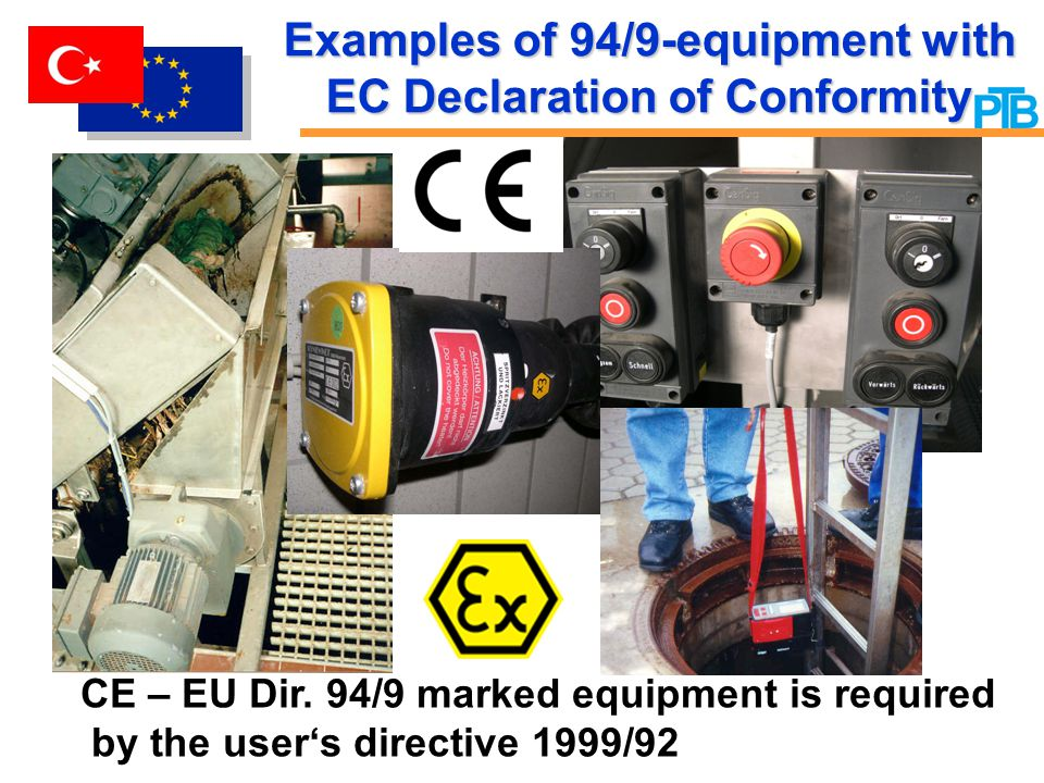Examples of 94/9-equipment with EC Declaration of Conformity