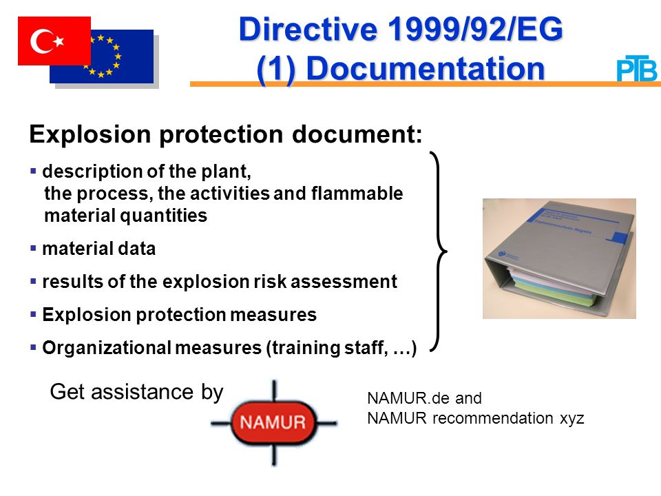 Directive 1999/92/EG (1) Documentation