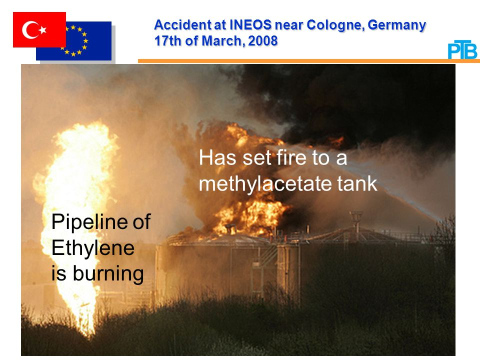 Accident at INEOS near Cologne, Germany 17th of March, 2008