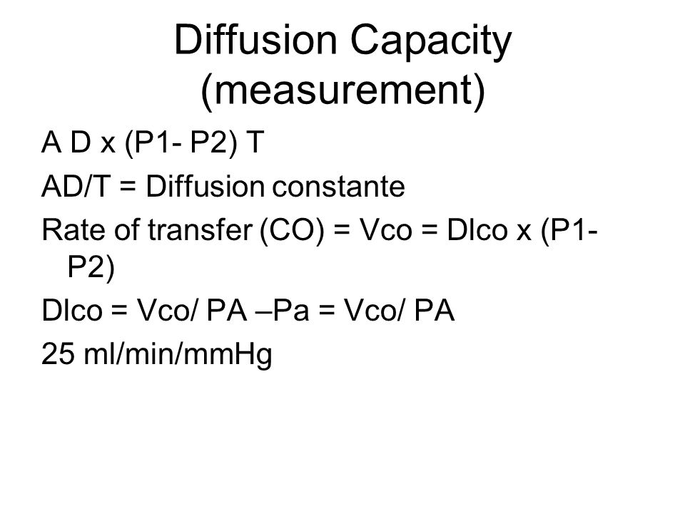 Diffusion Capacity (measurement)
