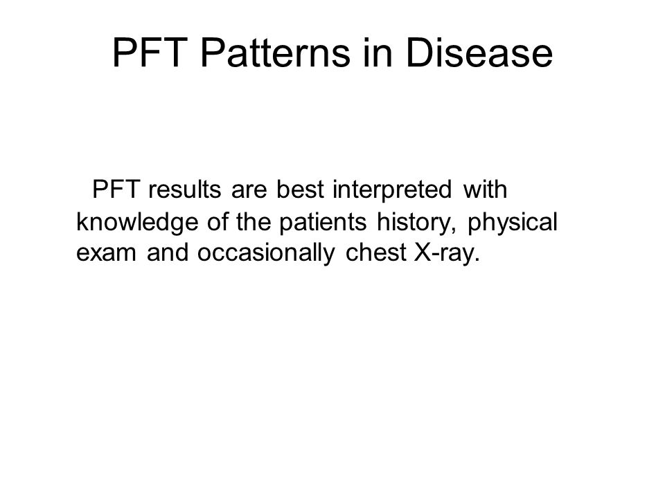 PFT Patterns in Disease