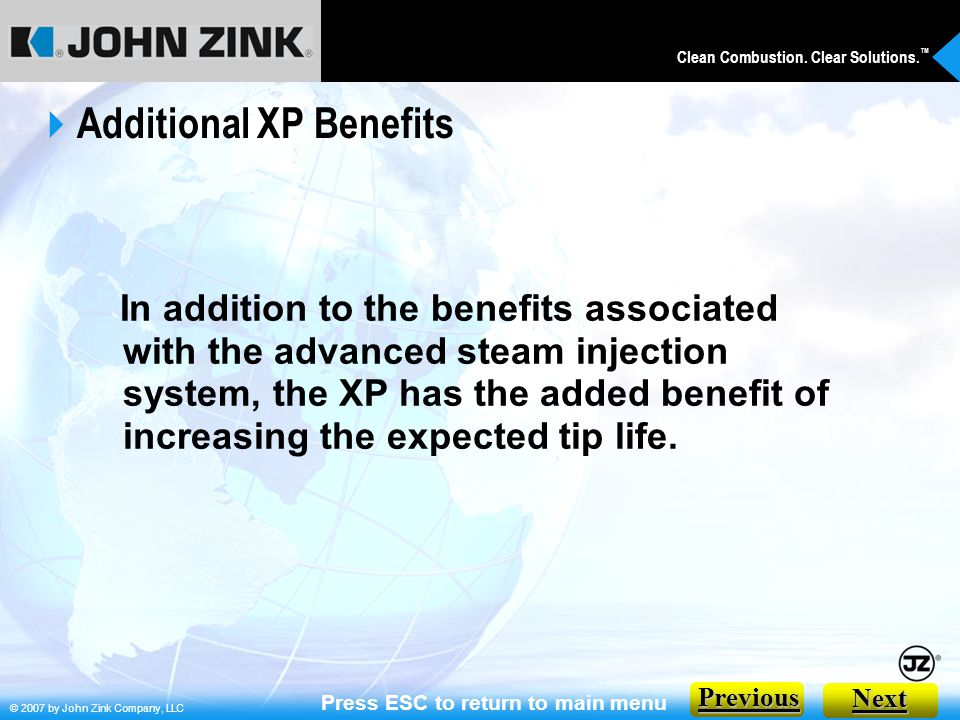 Additional XP Benefits