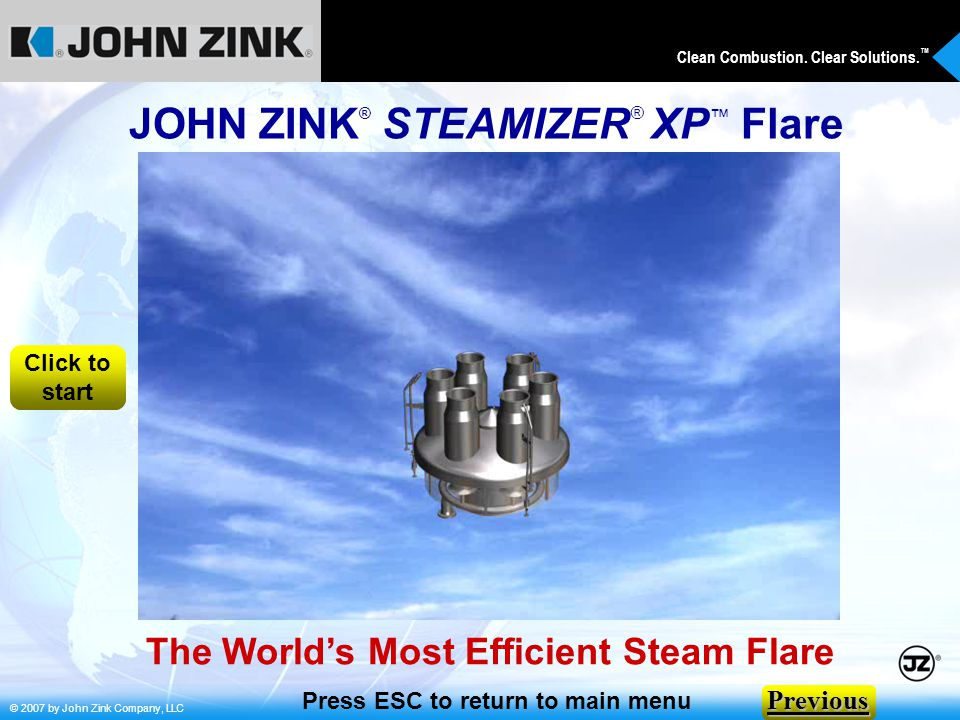 JOHN ZINK® STEAMIZER® XP™ Flare