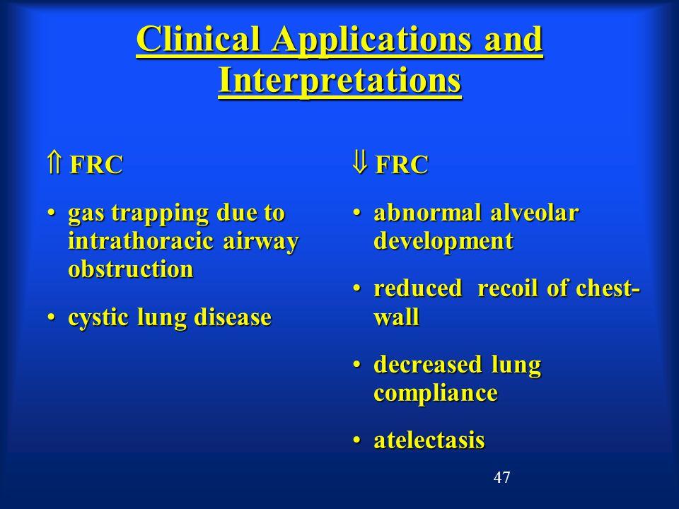 Clinical Applications and Interpretations