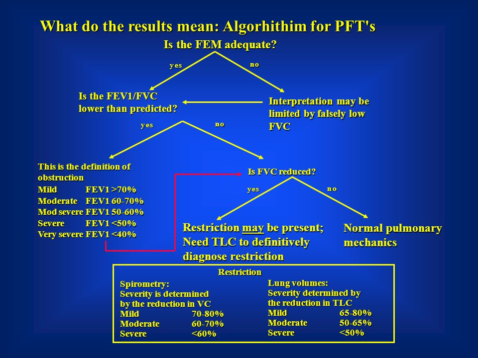 What do the results mean: Algorhithim for PFT s