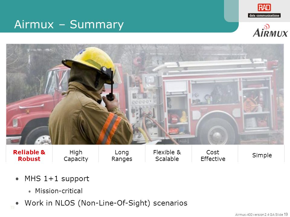 Airmux – Summary MHS 1+1 support