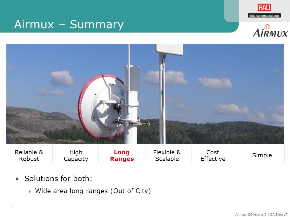 Airmux – Summary Solutions for both: