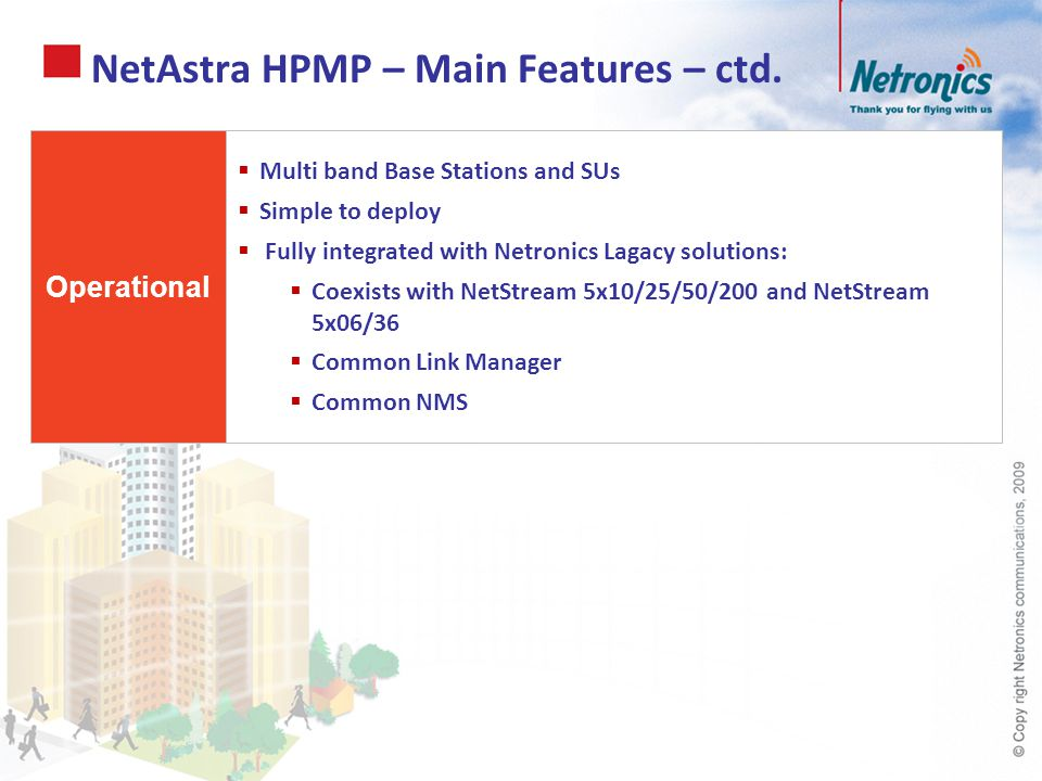 NetAstra HPMP – Main Features – ctd.