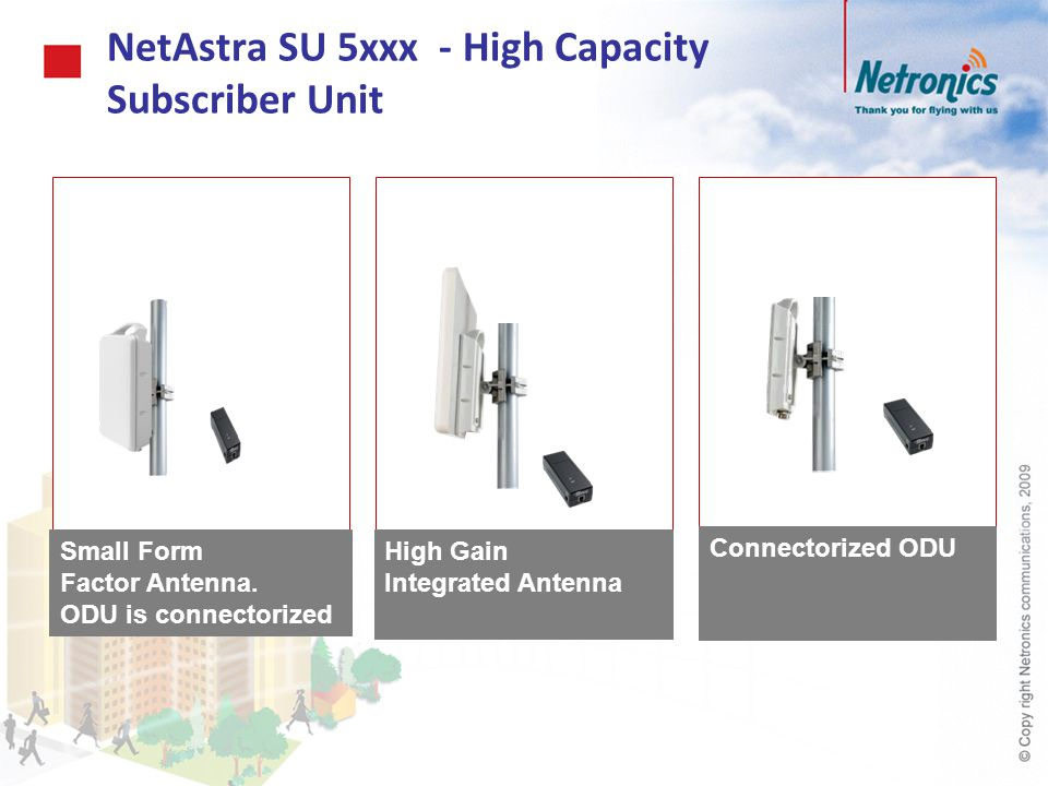 NetAstra SU 5xxx - High Capacity Subscriber Unit