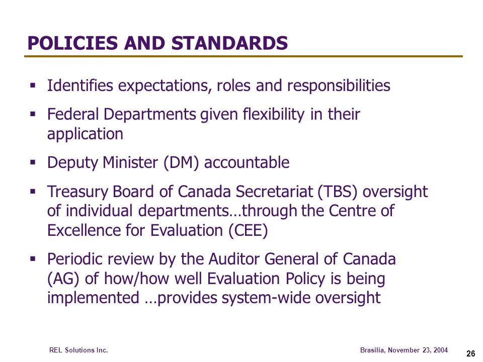 POLICIES AND STANDARDS