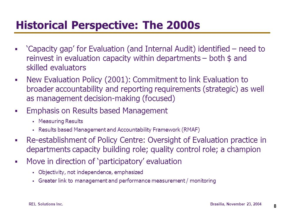 Historical Perspective: The 2000s