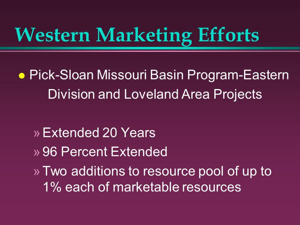 Western Marketing Efforts