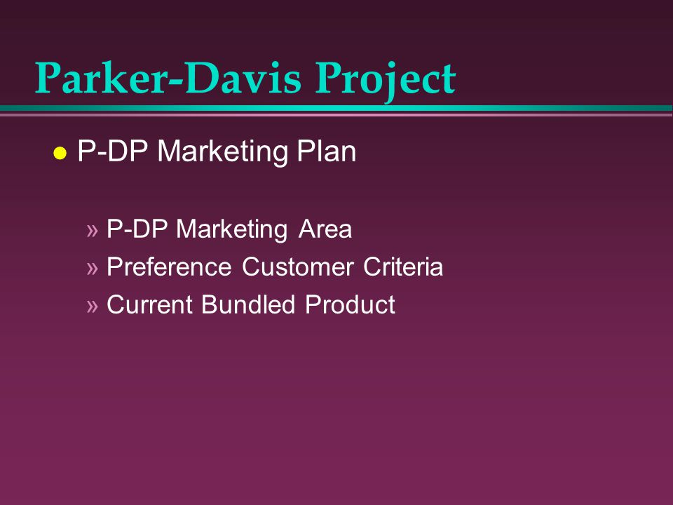 Parker-Davis Project P-DP Marketing Plan P-DP Marketing Area