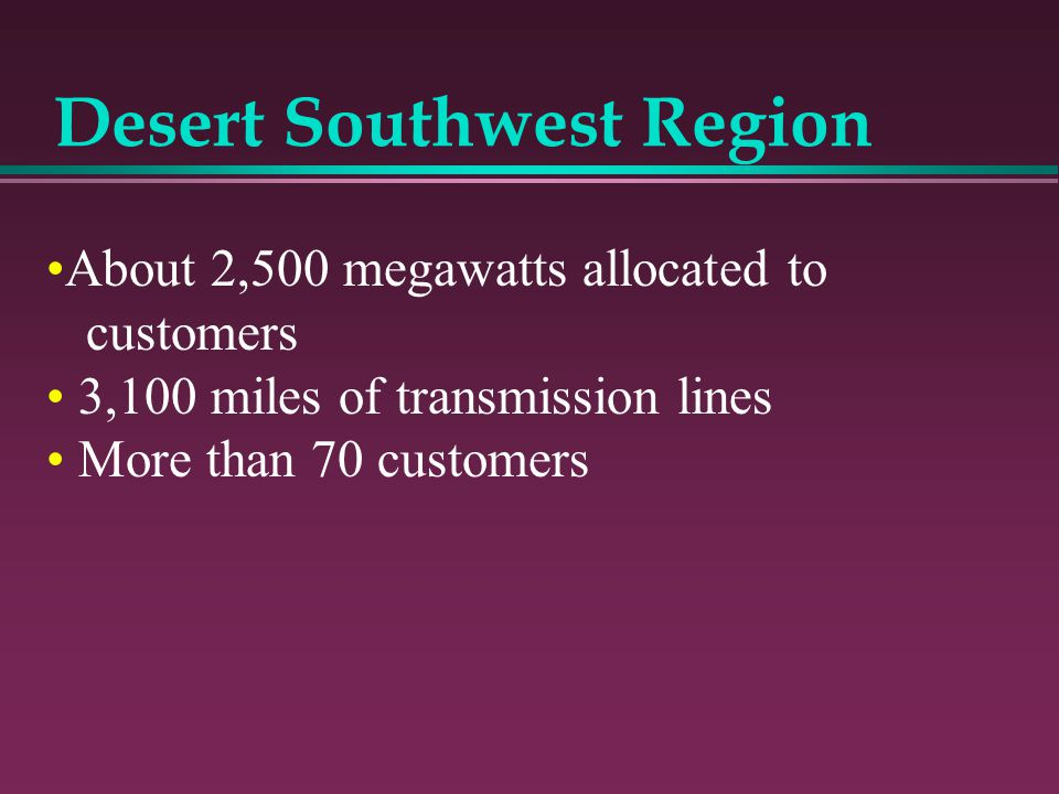 Desert Southwest Region