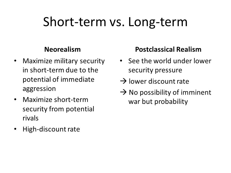 Short-term vs. Long-term