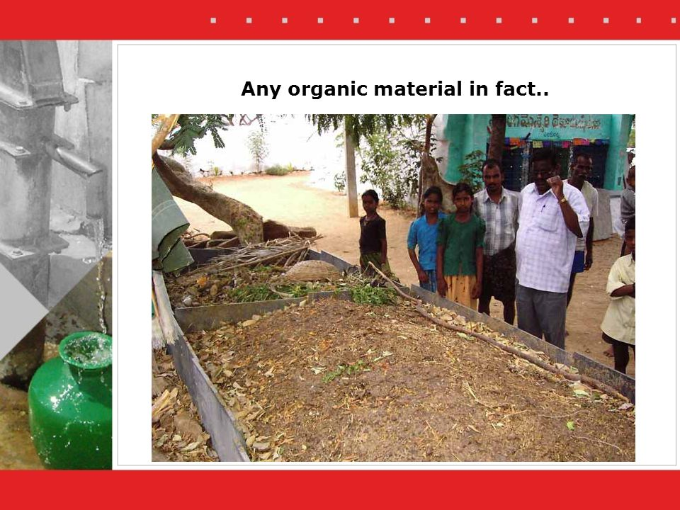 Any organic material in fact..