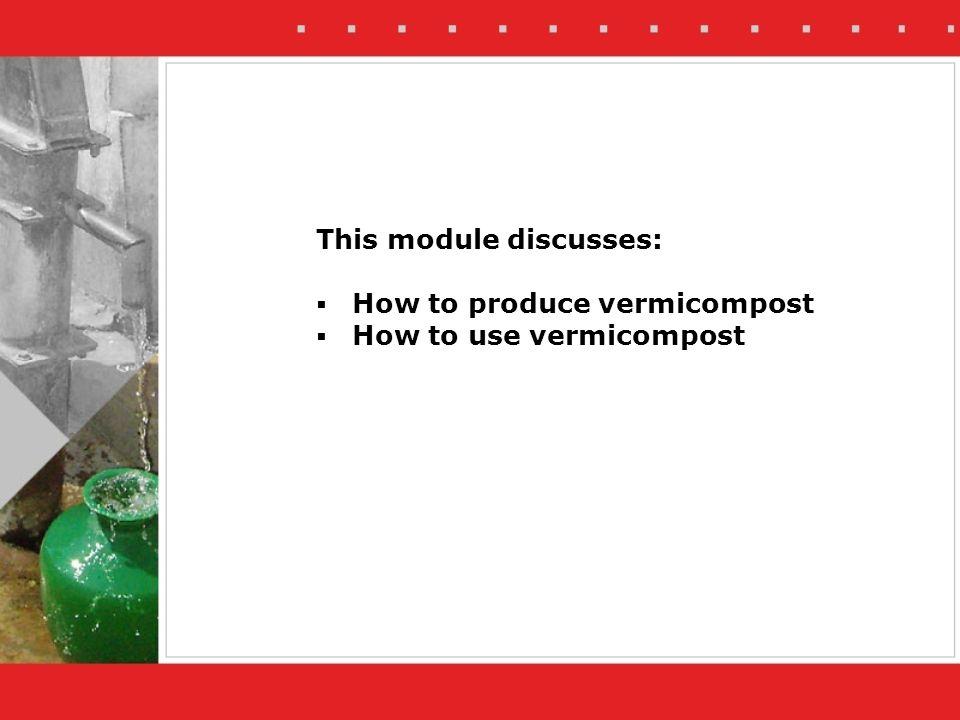 This module discusses: