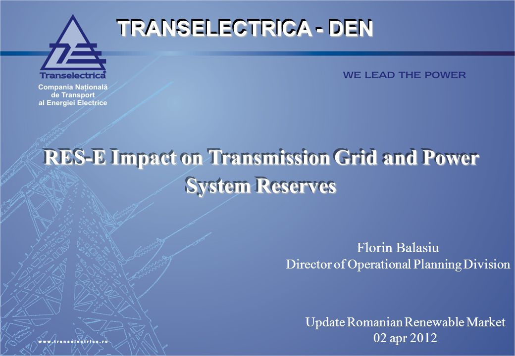 RES-E Impact on Transmission Grid and Power System Reserves