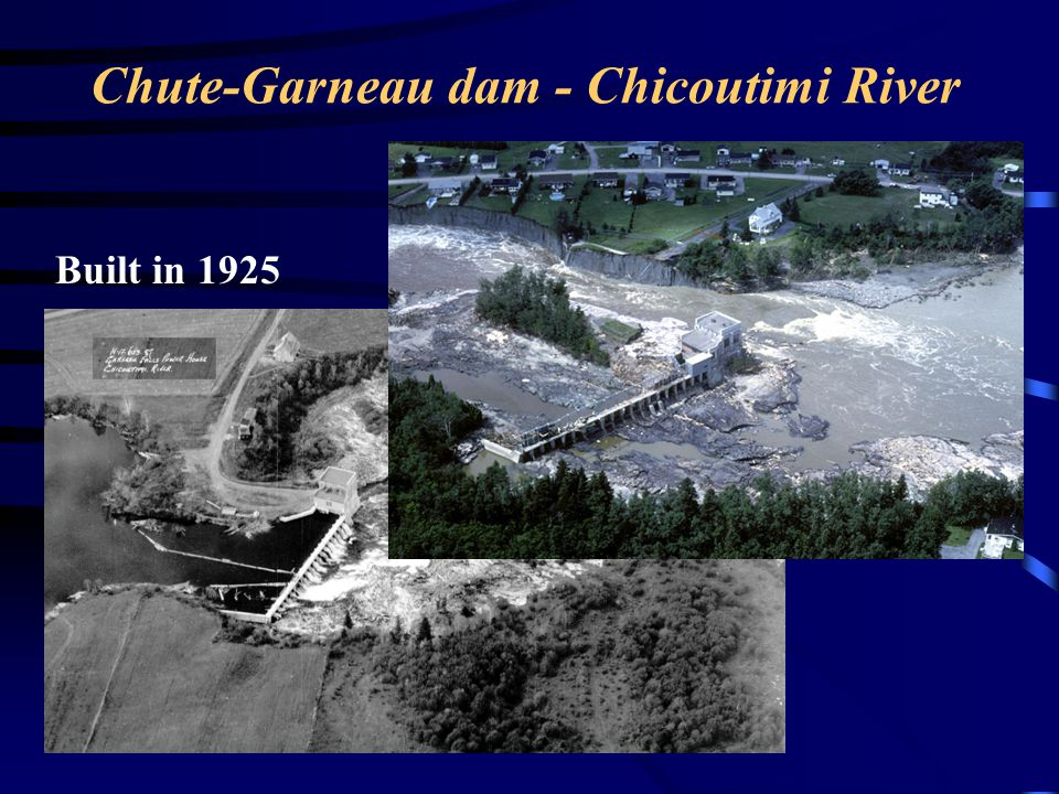 Chute-Garneau dam - Chicoutimi River