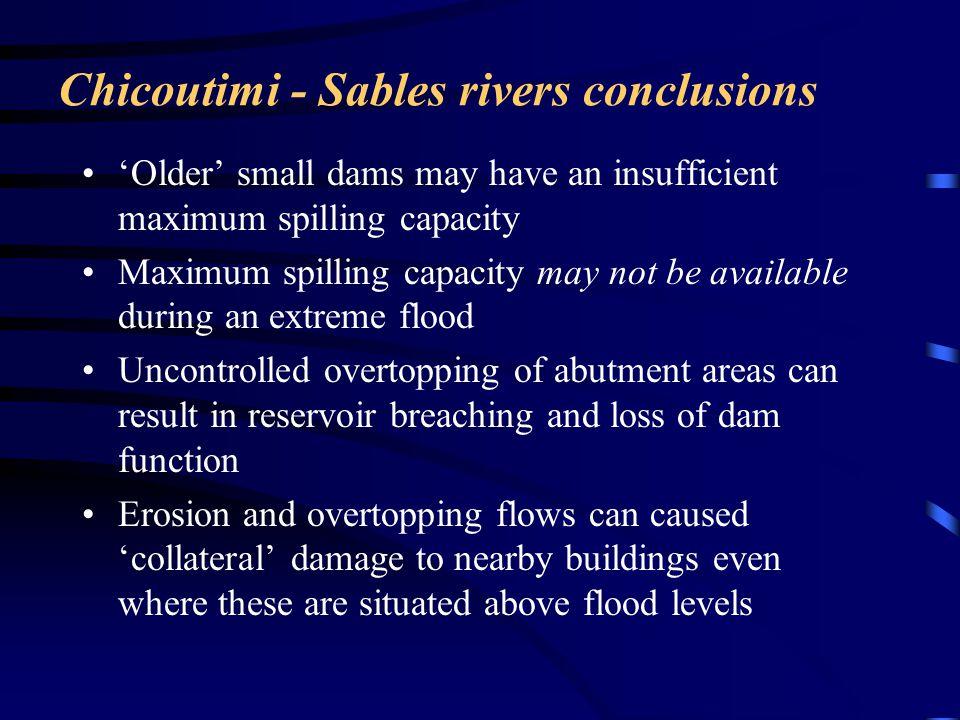 Chicoutimi - Sables rivers conclusions