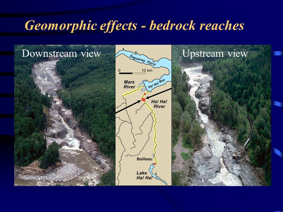 Geomorphic effects - bedrock reaches