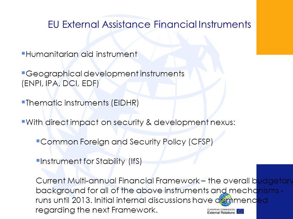 EU External Assistance Financial Instruments