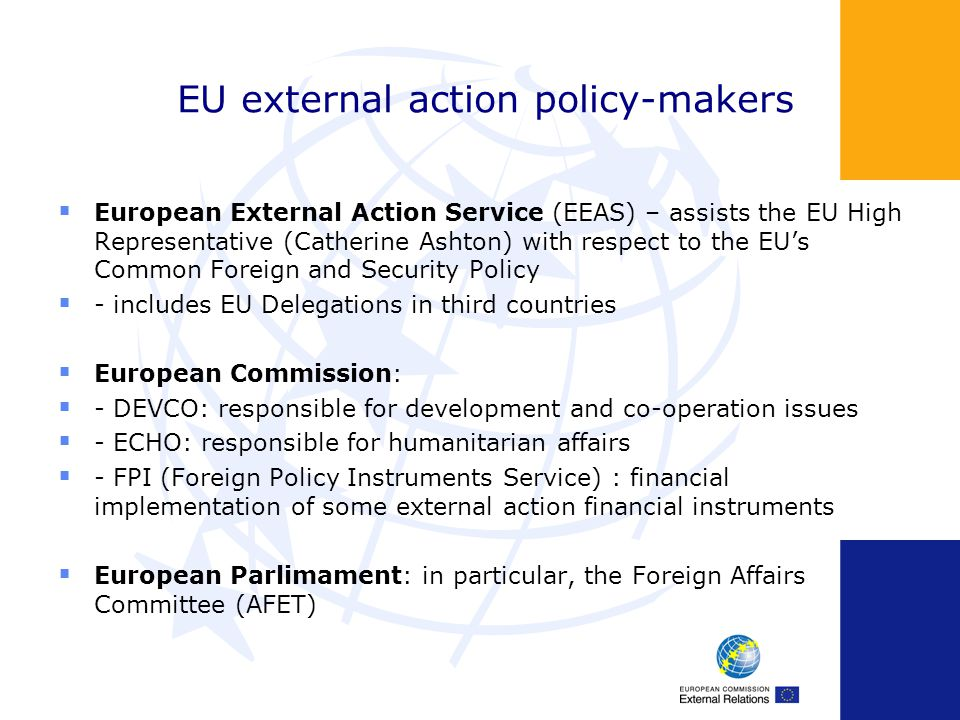 EU external action policy-makers