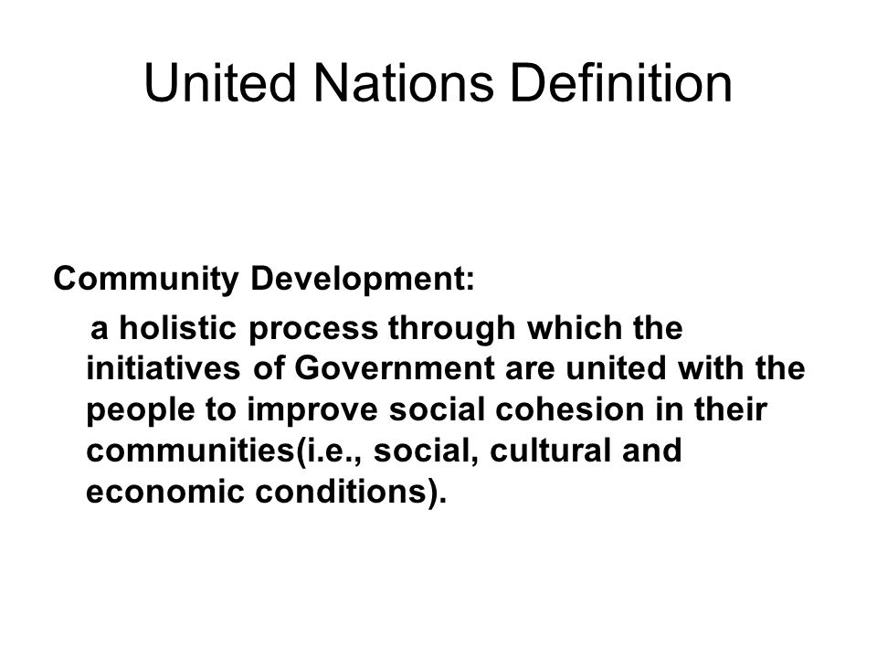United Nations Definition